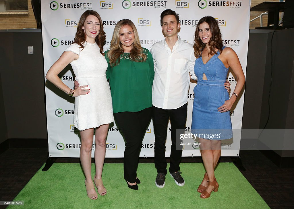 Katy Colloton, Kate Lambert, Brad Gardner, and moderator Kaily Smith Westbrook arrive to SeriesFest: Season Two for the 'From Web to
