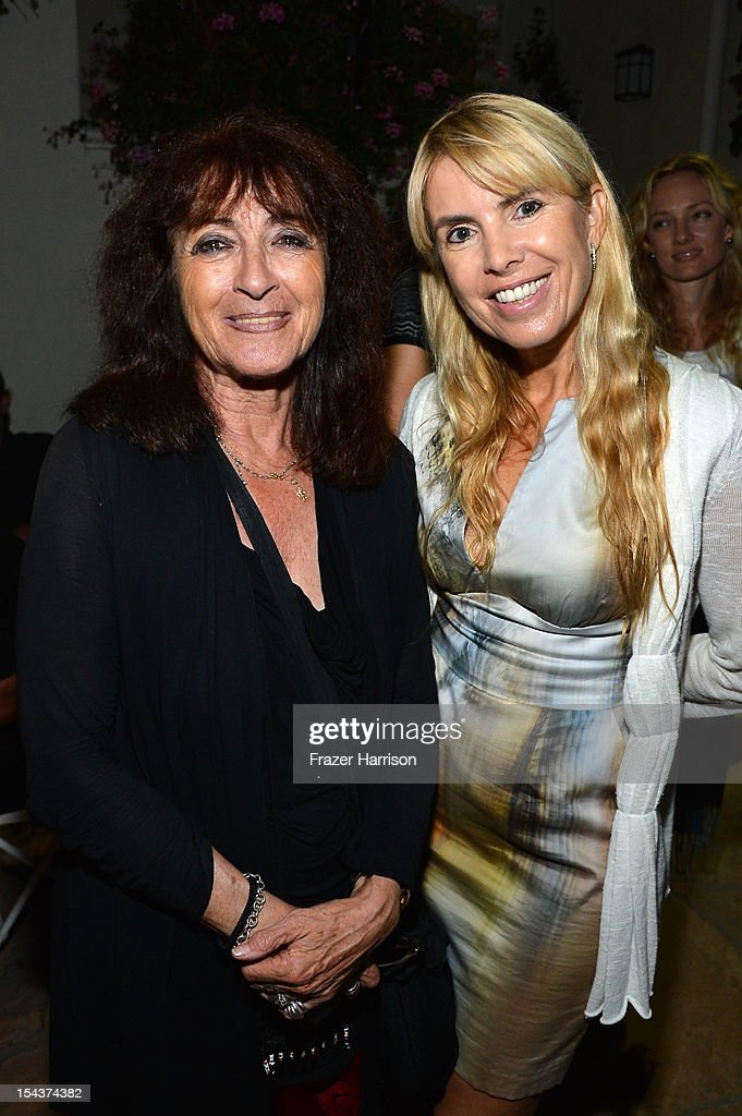 Katy Haber and producer Julia Verdin attends Wales Celebrates the launch of 'The Richard Burton Diaries' hosted by The Welsh Government, Swansea University and Yale University Press held at the British British Consul-General residence, Hancock Park on October 18, 2012 in Los Angeles, California.