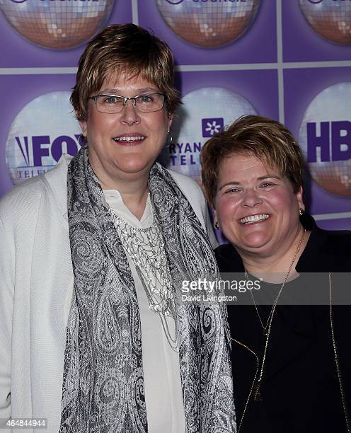 Katy Heyning and Judi Trampf attend the Family Equality Council's Los Angeles Awards Dinner at The Beverly Hilton Hotel on February 28 2015 in...