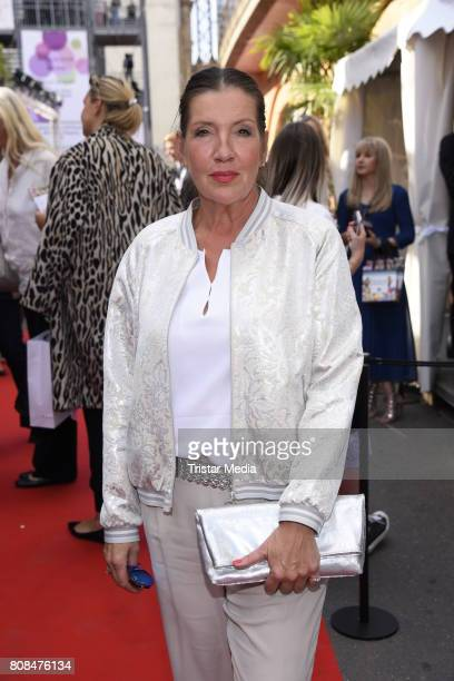 Katy Karrenbauer attends the Riani Fashion Show Spring/Summer 2018 at Umspannwerk Kreuzberg on July 4 2017 in Berlin Germany