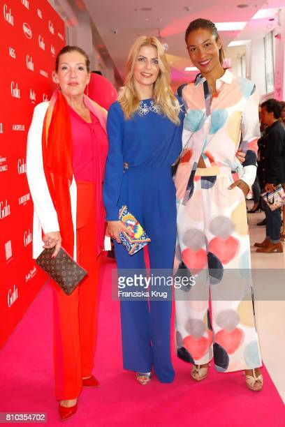 Katy Karrenbauer Tanja Buelter and Annabelle Mandeng attend the Gala Fashion Brunch during the MercedesBenz Fashion Week Berlin Spring/Summer 2018 at...