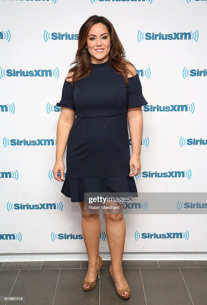 Katy Mixon visits at SiriusXM Studio on October 11, 2016 in New York City.