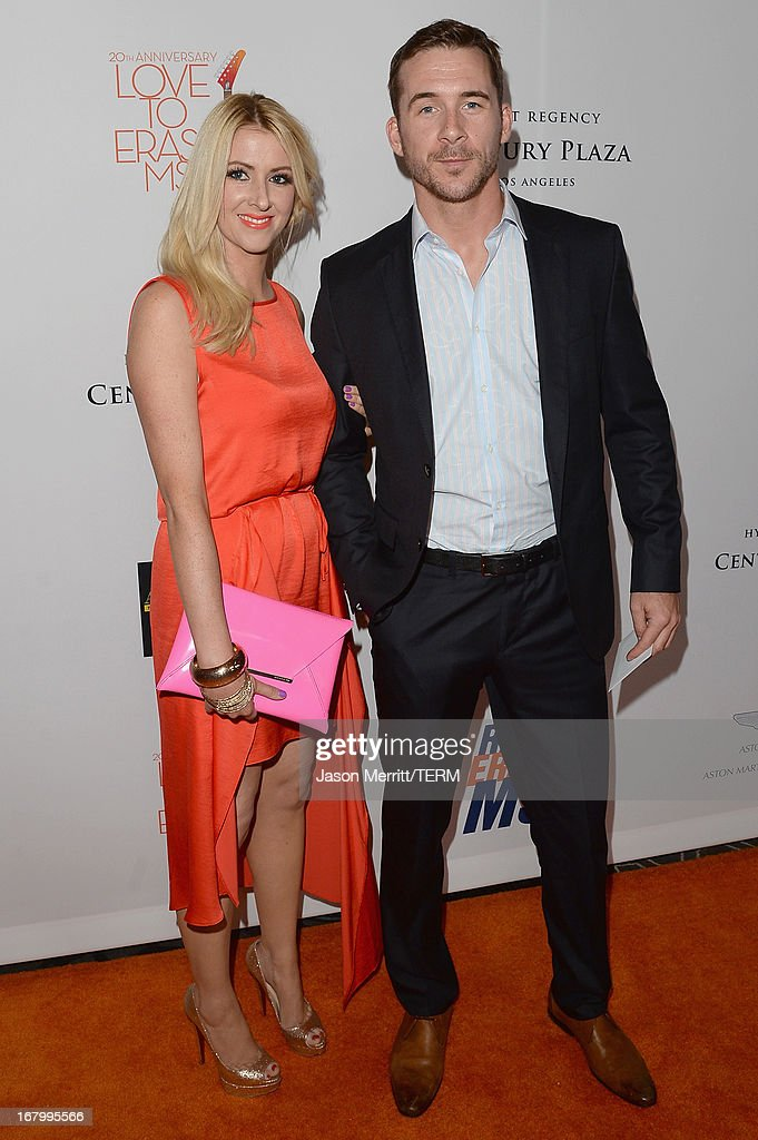 Katy O'Grady and actor Barry Sloane attends the 20th Annual Race To Erase MS Gala 'Love To Erase MS' at the Hyatt Regency Century Plaza on May 3, 2013 in Century City, California.