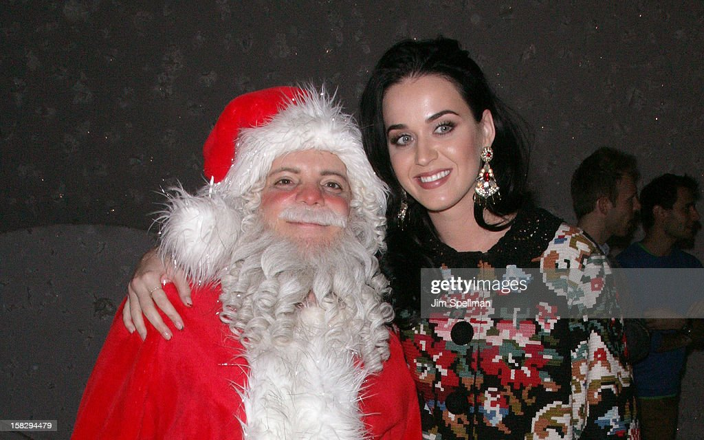 <a gi-track='captionPersonalityLinkClicked' href=/galleries/search?phrase=Katy+Perry&family=editorial&specificpeople=599558 ng-click='$event.stopPropagation()'>Katy Perry</a> (R) and cast member Eddie Korbich attend 'A Christmas Story, The Musical' Broadway Performance at Lunt-Fontanne Theatre on December 12, 2012 in New York City.