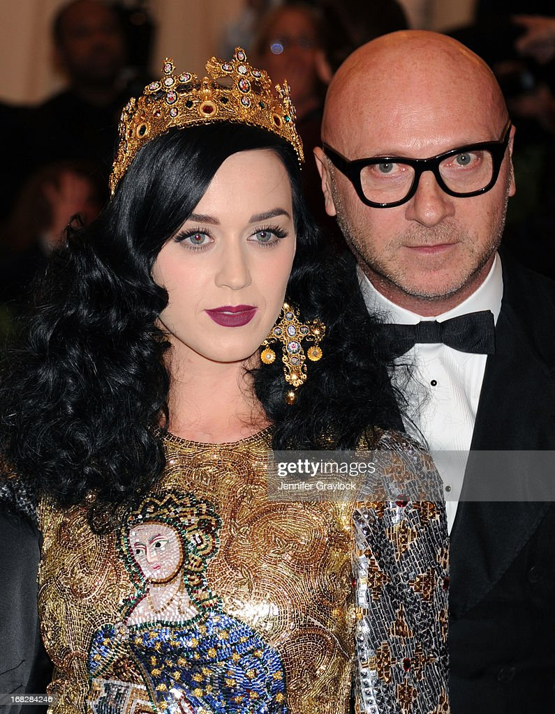 Katy Perry and Domenico Dolce attend the Costume Institute Gala for the 'PUNK: Chaos to Couture' exhibition at the Metropolitan Museum of Art on May 6, 2013 in New York City.