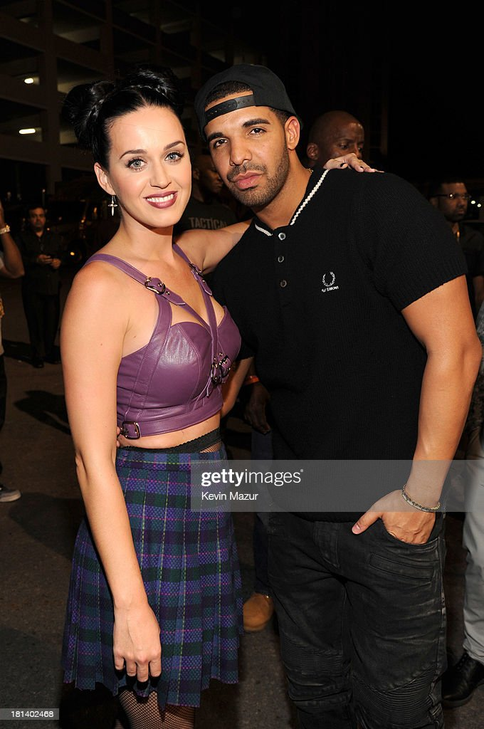 <a gi-track='captionPersonalityLinkClicked' href=/galleries/search?phrase=Katy+Perry&family=editorial&specificpeople=599558 ng-click='$event.stopPropagation()'>Katy Perry</a> and <a gi-track='captionPersonalityLinkClicked' href=/galleries/search?phrase=Drake+-+Entertainer&family=editorial&specificpeople=6927008 ng-click='$event.stopPropagation()'>Drake</a> attend the iHeartRadio Music Festival at the MGM Grand Garden Arena on September 20, 2013 in Las Vegas, Nevada.