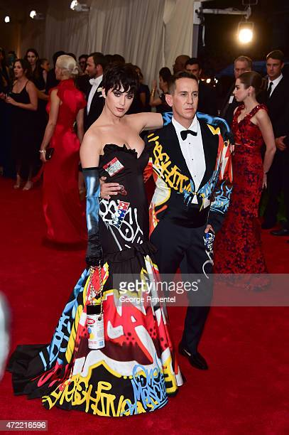 Katy Perry and Jeremy Scott attend the 'China Through The Looking Glass' Costume Institute Benefit Gala at Metropolitan Museum of Art on May 4 2015...