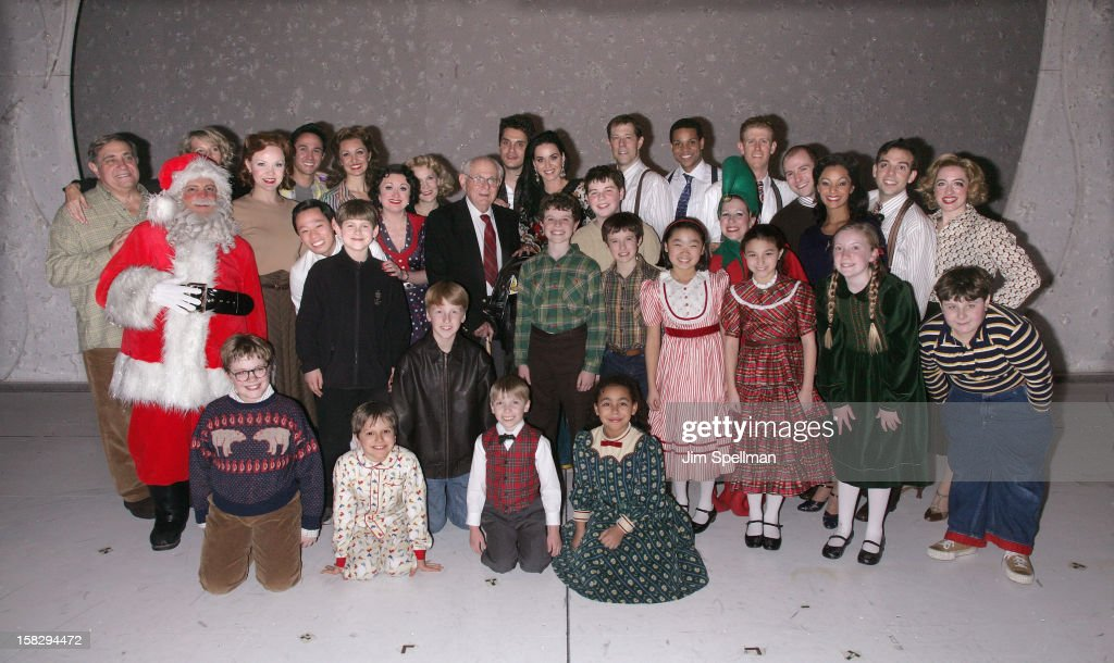 Katy Perry And John Mayer and the cast of 'A Christmas Story, The Musical' Broadway Performance at Lunt-Fontanne Theatre on December 12, 2012 in New York City.