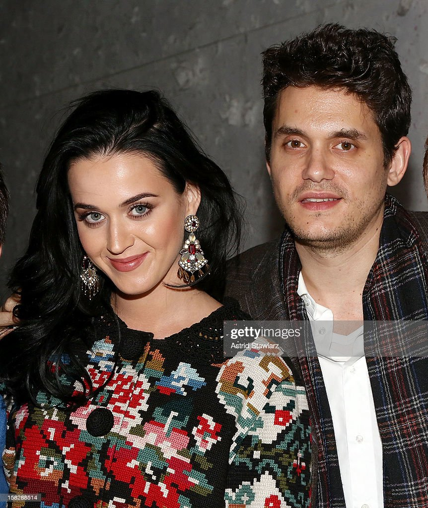 <a gi-track='captionPersonalityLinkClicked' href=/galleries/search?phrase=Katy+Perry&family=editorial&specificpeople=599558 ng-click='$event.stopPropagation()'>Katy Perry</a> (L) and <a gi-track='captionPersonalityLinkClicked' href=/galleries/search?phrase=John+Mayer&family=editorial&specificpeople=201930 ng-click='$event.stopPropagation()'>John Mayer</a> attend 'A Christmas Story, The Musical' Broadway Performance at Lunt-Fontanne Theatre on December 12, 2012 in New York City.
