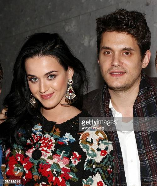 Katy Perry and John Mayer attend 'A Christmas Story The Musical' Broadway Performance at LuntFontanne Theatre on December 12 2012 in New York City