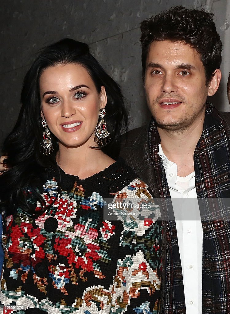 Katy Perry and John Mayer attend 'A Christmas Story, The Musical' Broadway Performance at Lunt-Fontanne Theatre on December 12, 2012 in New York City.