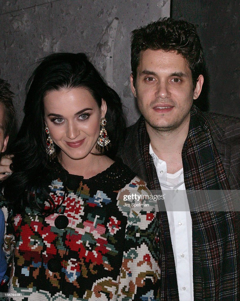 <a gi-track='captionPersonalityLinkClicked' href=/galleries/search?phrase=Katy+Perry&family=editorial&specificpeople=599558 ng-click='$event.stopPropagation()'>Katy Perry</a> And <a gi-track='captionPersonalityLinkClicked' href=/galleries/search?phrase=John+Mayer&family=editorial&specificpeople=201930 ng-click='$event.stopPropagation()'>John Mayer</a> attend 'A Christmas Story, The Musical' Broadway Performance at Lunt-Fontanne Theatre on December 12, 2012 in New York City.