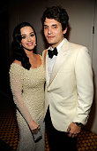 Katy Perry and John Mayer attend the 55th Annual GRAMMY Awards PreGRAMMY Gala and Salute to Industry Icons honoring LA Reid held at The Beverly...