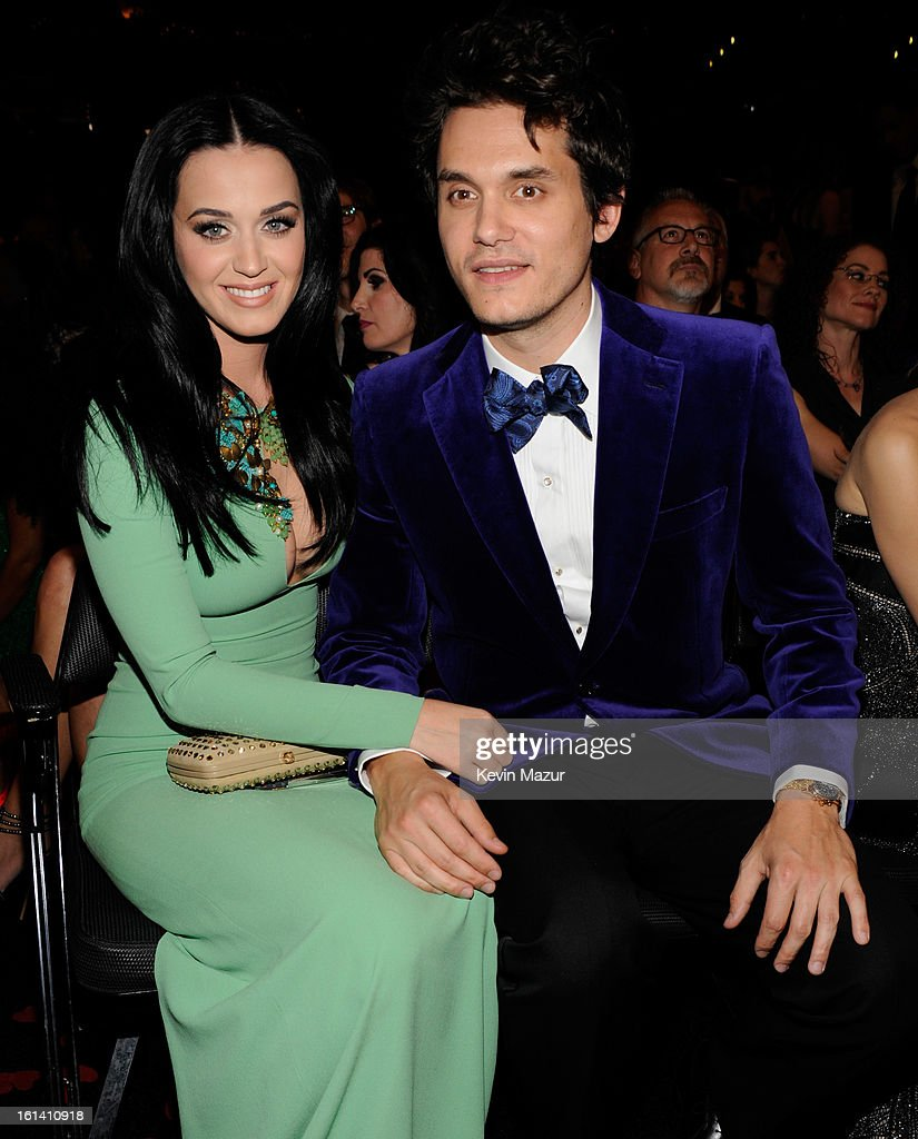 <a gi-track='captionPersonalityLinkClicked' href=/galleries/search?phrase=Katy+Perry&family=editorial&specificpeople=599558 ng-click='$event.stopPropagation()'>Katy Perry</a> and <a gi-track='captionPersonalityLinkClicked' href=/galleries/search?phrase=John+Mayer&family=editorial&specificpeople=201930 ng-click='$event.stopPropagation()'>John Mayer</a> attends the 55th Annual GRAMMY Awards at STAPLES Center on February 10, 2013 in Los Angeles, California.