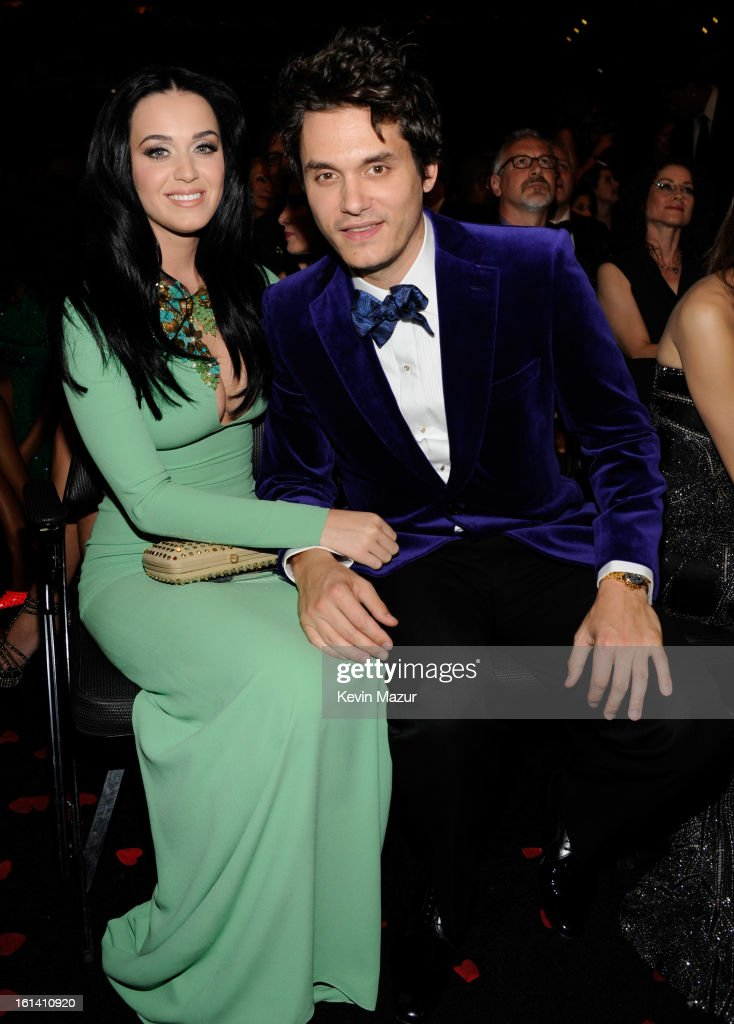 Katy Perry and John Mayer attends the 55th Annual GRAMMY Awards at STAPLES Center on February 10, 2013 in Los Angeles, California.