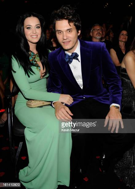 Katy Perry and John Mayer attends the 55th Annual GRAMMY Awards at STAPLES Center on February 10 2013 in Los Angeles California