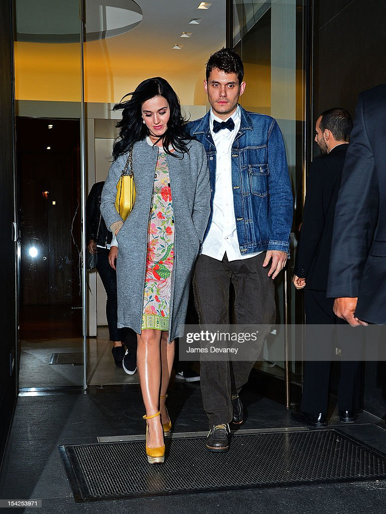 Katy Perry and John Mayer seen on the streets of Manhattan on October 16, 2012 in New York City.