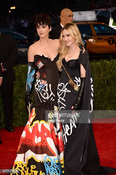 Katy Perry and Madonna attend the 'China Through The Looking Glass' Costume Institute Benefit Gala at Metropolitan Museum of Art on May 4 2015 in New...