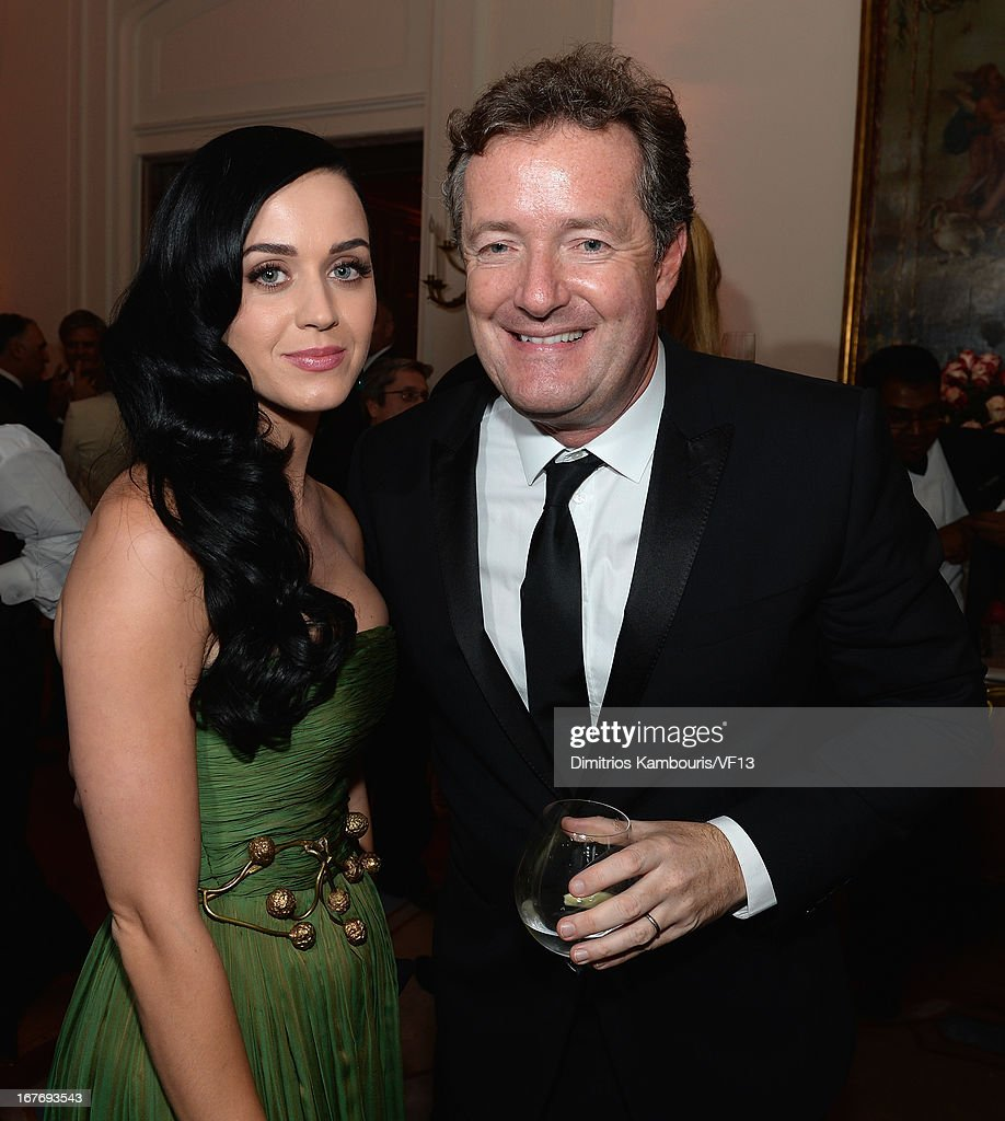 <a gi-track='captionPersonalityLinkClicked' href=/galleries/search?phrase=Katy+Perry&family=editorial&specificpeople=599558 ng-click='$event.stopPropagation()'>Katy Perry</a> and <a gi-track='captionPersonalityLinkClicked' href=/galleries/search?phrase=Piers+Morgan&family=editorial&specificpeople=216509 ng-click='$event.stopPropagation()'>Piers Morgan</a> attend the Bloomberg & Vanity Fair cocktail reception following the 2013 WHCA Dinner at the residence of the French Ambassador on April 27, 2013 in Washington, DC.