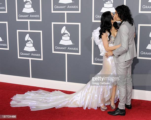 Katy Perry and Russell Brand arrive for the 53rd Annual GRAMMY Awards at the Staples Center February 13 2011 in Los Angeles California