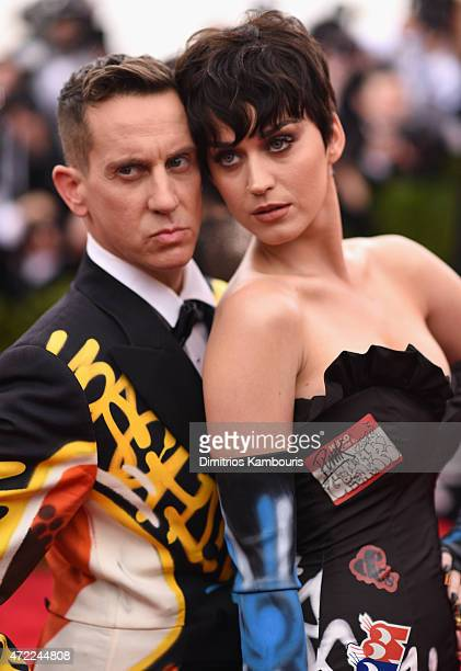 Katy Perry ans designer Jeremy Scott attend the 'China Through The Looking Glass' Costume Institute Benefit Gala at the Metropolitan Museum of Art on...