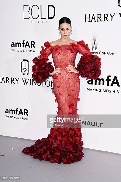 Katy Perry arrives at amfAR's 23rd Cinema Against AIDS Gala at Hotel du CapEdenRoc on May 19 2016 in Cap d'Antibes France