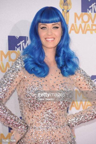 Katy Perry arrives at the 2010 MTV Movie Awards at Gibson Amphitheatre on June 6 2010 in Universal City California