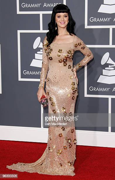 Katy Perry arrives at the 52nd Annual GRAMMY Awards held at Staples Center on January 31 2010 in Los Angeles California