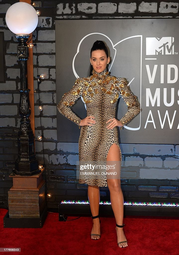 Katy Perry arrives at the MTV Video Music Awards August 25, 2013 at the Barclays Center in New York. AFP PHOTO/Emmanuel DUNAND