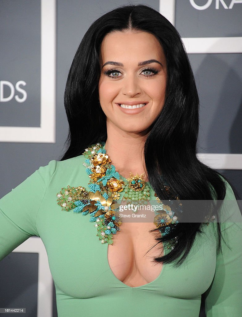 <a gi-track='captionPersonalityLinkClicked' href=/galleries/search?phrase=Katy+Perry&family=editorial&specificpeople=599558 ng-click='$event.stopPropagation()'>Katy Perry</a> arrives at the The 55th Annual GRAMMY Awards on February 10, 2013 in Los Angeles, California.