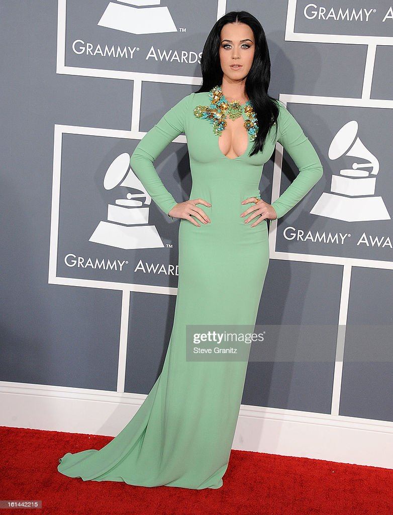 Katy Perry arrives at the The 55th Annual GRAMMY Awards on February 10, 2013 in Los Angeles, California.