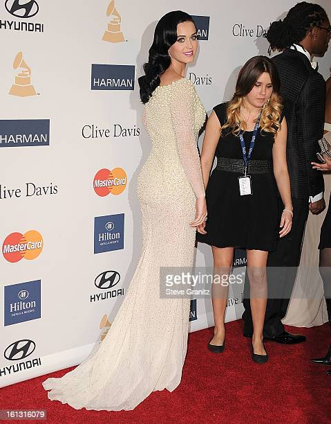 Katy Perry arrives at the The 55th Annual GRAMMY Awards PreGRAMMY Gala And Salute To Industry Icons Honoring LA Reid on February 9 2013 in Los...
