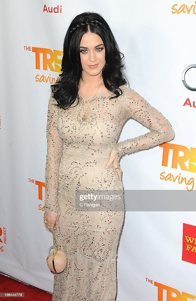 Katy Perry arrives at The Trevor Project's 2012 'Trevor Live' Event Honoring Katy Perry at Hollywood Palladium on December 2, 2012 in Hollywood, California.