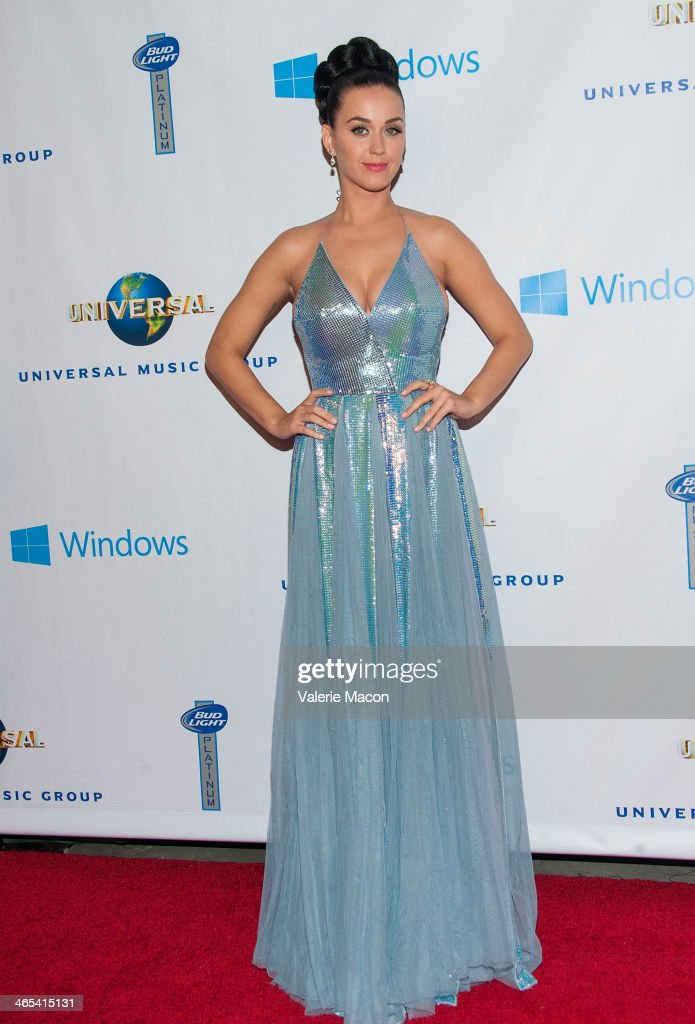 <a gi-track='captionPersonalityLinkClicked' href=/galleries/search?phrase=Katy+Perry&family=editorial&specificpeople=599558 ng-click='$event.stopPropagation()'>Katy Perry</a> arrives at the Universal Music Group 2014 Post GRAMMY Party at The Ace Hotel Theater on January 26, 2014 in Los Angeles, California.