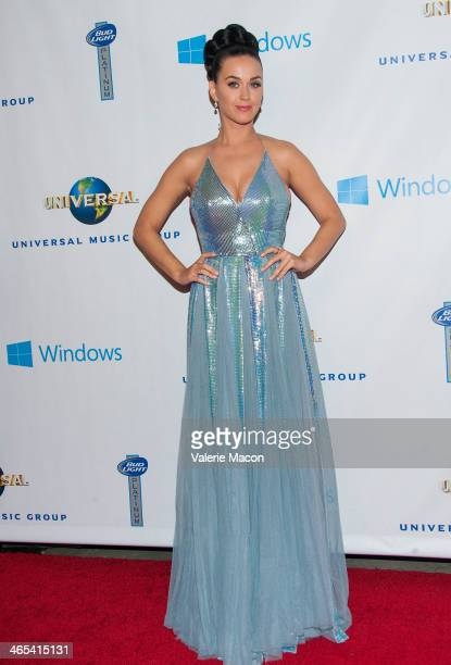 Katy Perry arrives at the Universal Music Group 2014 Post GRAMMY Party at The Ace Hotel Theater on January 26 2014 in Los Angeles California