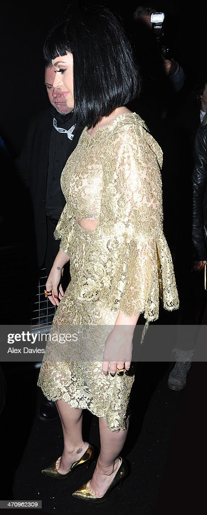 Katy Perry arriving at the Universal music Brits afterparty on February 19, 2014 in London, England.
