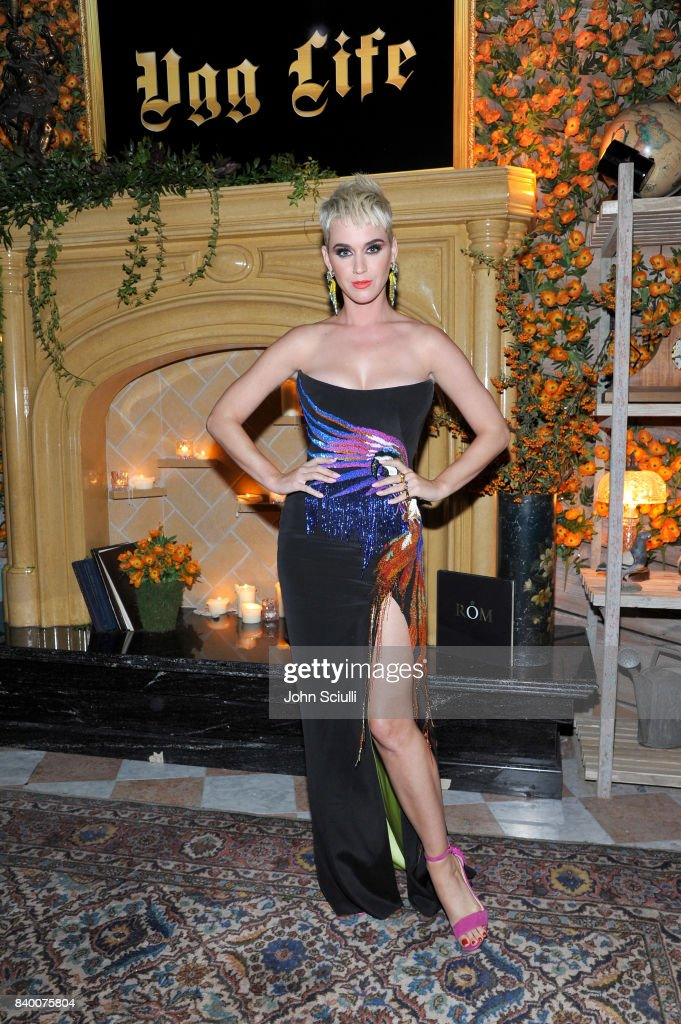 Katy Perry at UGG x Jeremy Scott Collaboration Launch Event at The h.wood Group's 'Poppy' on August 27, 2017 in West Hollywood, California.