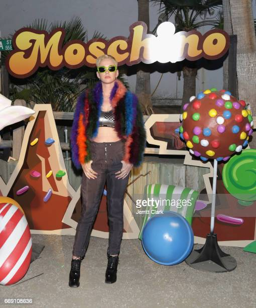 Katy Perry attend the Moschino Candy Crush Desert Party hosted by Jeremy Scott on April 15 2017 in Coachella California