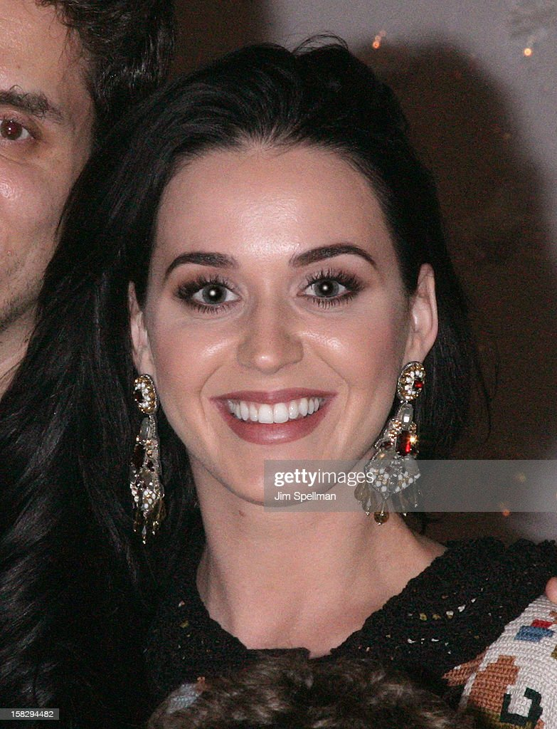 Katy Perry attends 'A Christmas Story, The Musical' Broadway Performance at Lunt-Fontanne Theatre on December 12, 2012 in New York City.