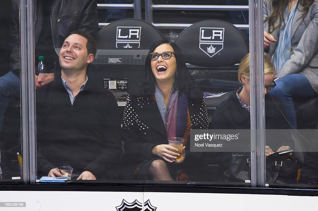 <a gi-track='captionPersonalityLinkClicked' href=/galleries/search?phrase=Katy+Perry&family=editorial&specificpeople=599558 ng-click='$event.stopPropagation()'>Katy Perry</a> attends a hockey game between the Calgary Flames and Los Angeles Kings at Staples Center on March 9, 2013 in Los Angeles, California.
