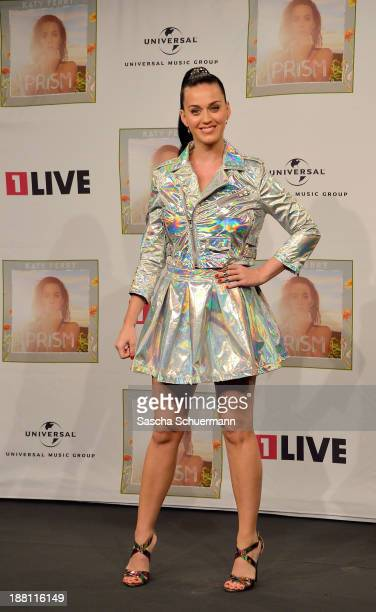 Katy Perry attends a photocall after giving an interview at radio station 1 LIVE on November 15 2013 in Cologne Germany