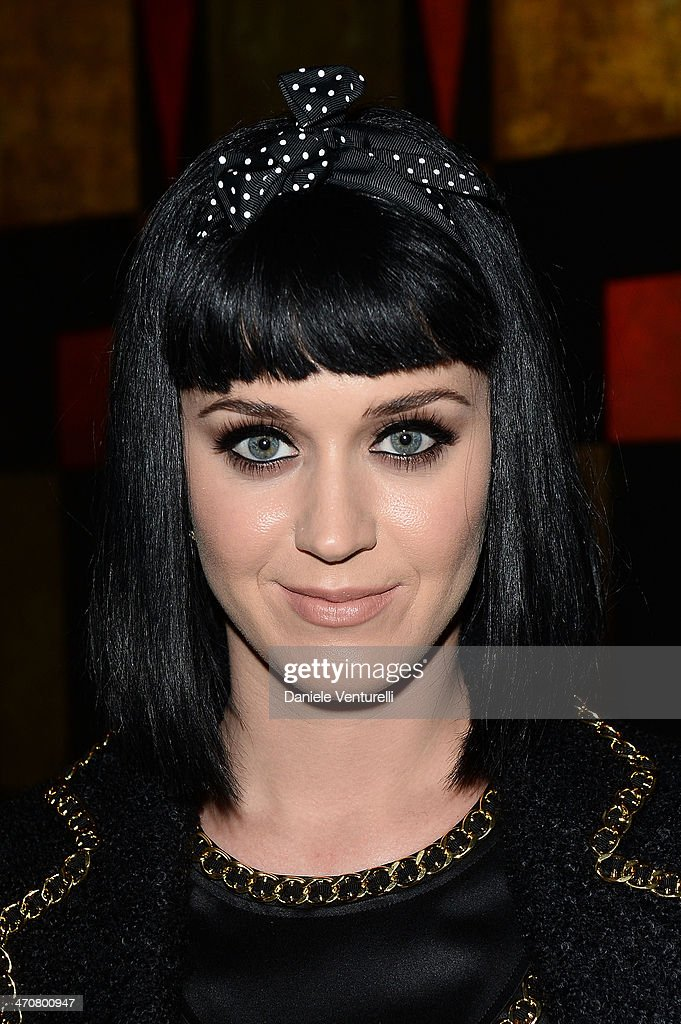 <a gi-track='captionPersonalityLinkClicked' href=/galleries/search?phrase=Katy+Perry&family=editorial&specificpeople=599558 ng-click='$event.stopPropagation()'>Katy Perry</a> attends Moschino Dinner during the Milan Fashion Week Womenswear Autumn/Winter 2014 at Giacomo Arengario Restaurant on February 20, 2014 in Milan, Italy.