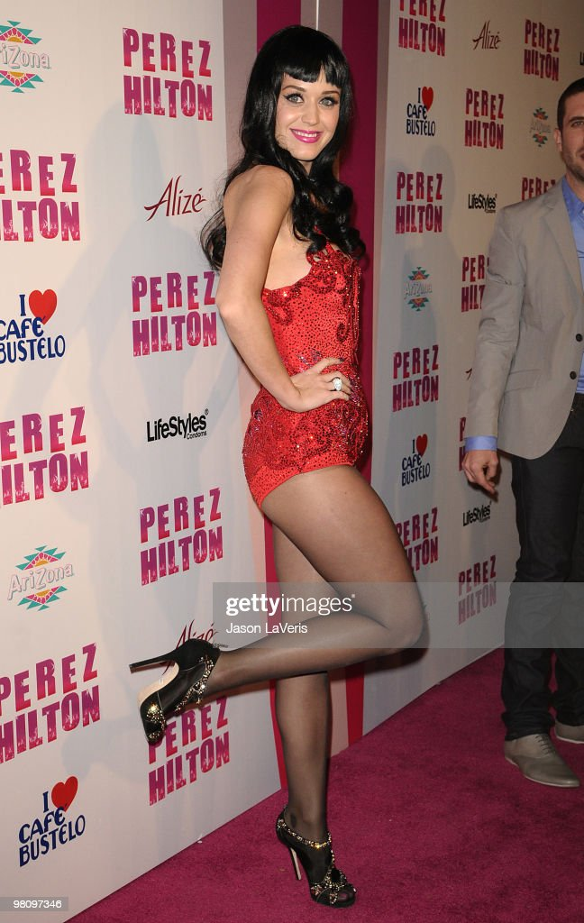 Katy Perry attends Perez Hilton's 'CarnEvil' Theatrical Freak and Funk 32nd birthday party at Paramount Studios on March 27 2010 in Los Angeles...