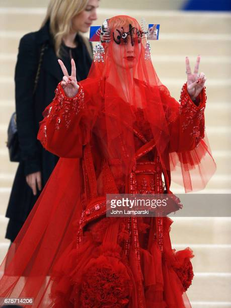 Katy Perry attends 'Rei Kawakubo/Comme des Garcons Art Of The InBetween' Costume Institute Gala at Metropolitan Museum of Art on May 1 2017 in New...