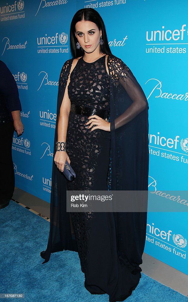<a gi-track='captionPersonalityLinkClicked' href=/galleries/search?phrase=Katy+Perry&family=editorial&specificpeople=599558 ng-click='$event.stopPropagation()'>Katy Perry</a> attends the 2012 UNICEF Snowflake Ball at Cipriani 42nd Street on November 27, 2012 in New York City.