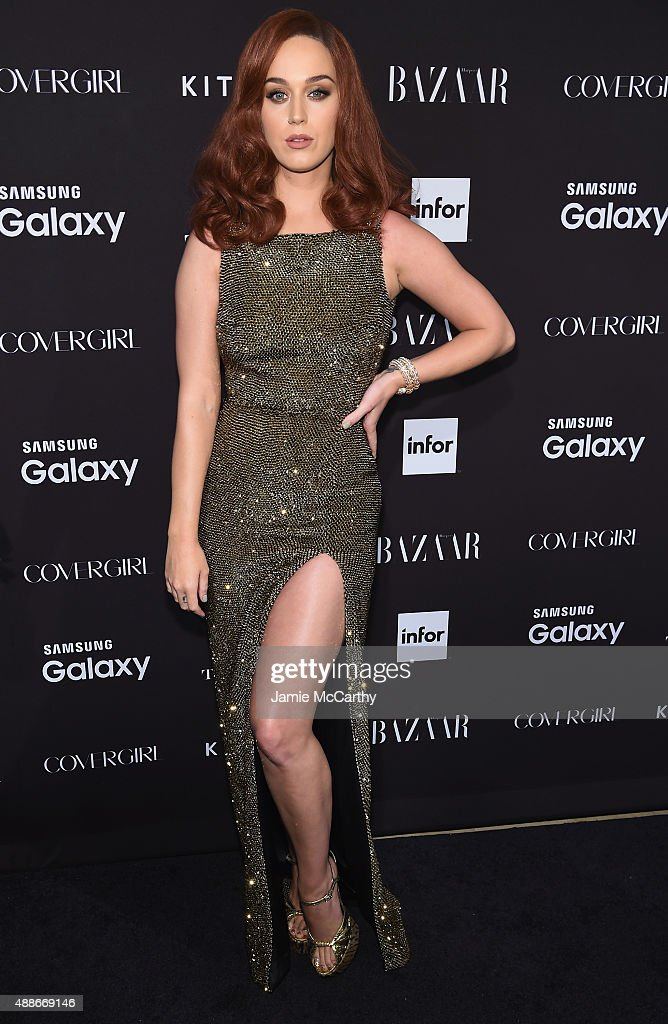 <a gi-track='captionPersonalityLinkClicked' href=/galleries/search?phrase=Katy+Perry&family=editorial&specificpeople=599558 ng-click='$event.stopPropagation()'>Katy Perry</a> attends the 2015 Harper's BAZAAR ICONS Event at The Plaza Hotel on September 16, 2015 in New York City.