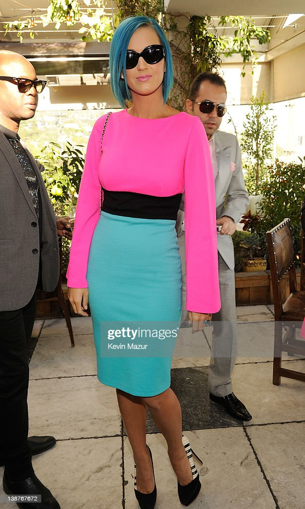 <a gi-track='captionPersonalityLinkClicked' href=/galleries/search?phrase=Katy+Perry&family=editorial&specificpeople=599558 ng-click='$event.stopPropagation()'>Katy Perry</a> attends the 4th Annual Roc Nation Pre-GRAMMY brunch at Soho House on February 11, 2012 in West Hollywood, California.