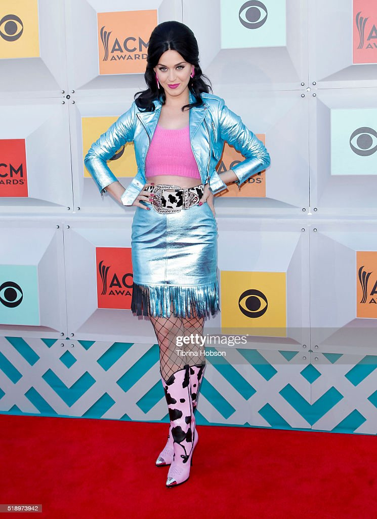 Katy Perry attends the 51st Academy of Country Music Awards at MGM Grand Garden Arena on April 3, 2016 in Las Vegas, Nevada.