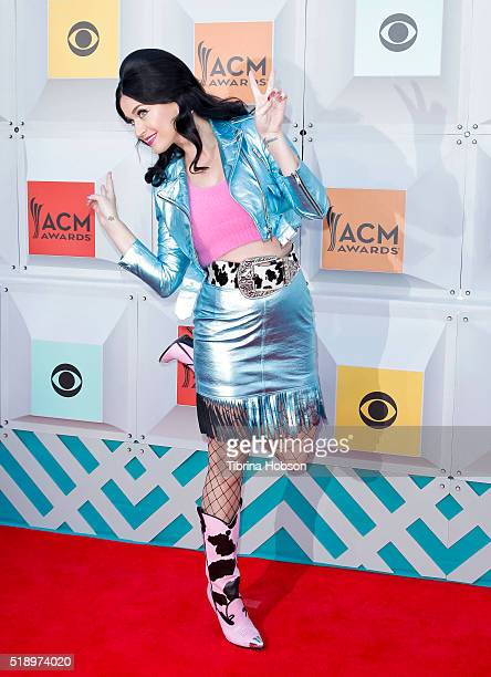 Katy Perry attends the 51st Academy of Country Music Awards at MGM Grand Garden Arena on April 3 2016 in Las Vegas Nevada