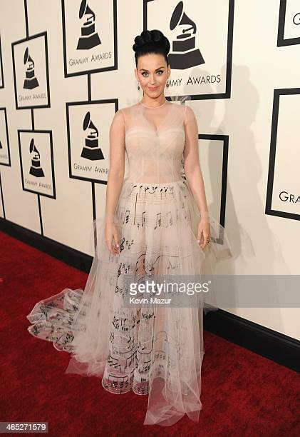 Katy Perry attends the 56th GRAMMY Awards at Staples Center on January 26 2014 in Los Angeles California
